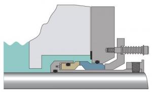 garniture mécanique simple à cartouche pour liquide chargé